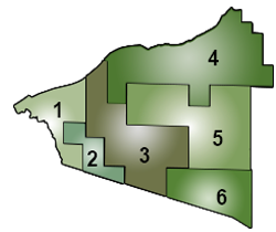 Map of the school districts that make up the GOISD region